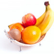 Many fruits in basket — Stock Photo