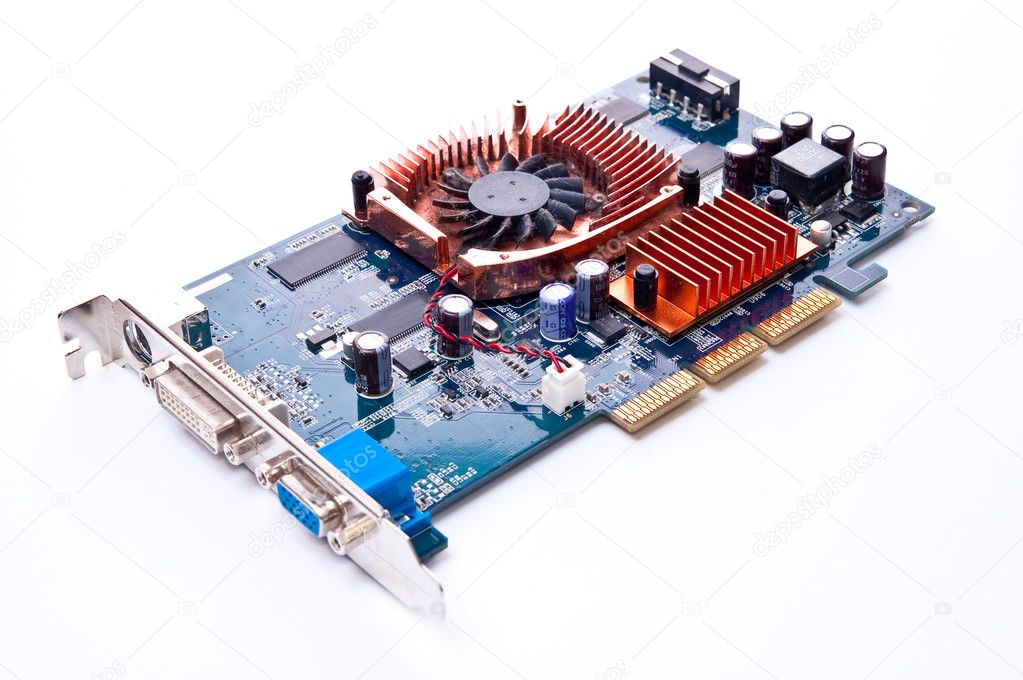 PC hardware video card isolated on white  Stock Photo #3024766