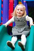 Playing small child — Stock Photo