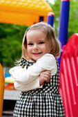 Girl in the playground — Stock Photo