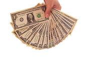 Money in woman's hand — Foto de Stock