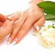 Ring and hands — Stock Photo #3698388