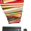 Stock Photo: Books and keyboard