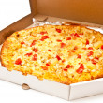 Pizza in box — Stock Photo