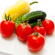 Vegetables on plate - Stock Photo