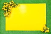 黄色い紙の空白 — ストック写真