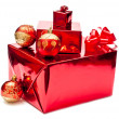 Red christmas gifts and toys — Stock Photo #3778876