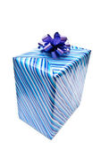 Single gift box — Stock Photo