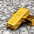 Stock Photo: Gold and Cash
