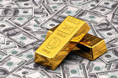 Gold and Cash — Stock Photo