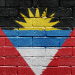 Antigua and Barbuda flag — Stockfoto