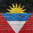 Antigua and Barbuda flag — Stock Photo