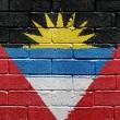 Antigua and Barbuda flag — Stock Photo