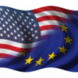 Stock Photo: Half US - Half EU