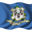 Stock Photo: Flag of Connecticut