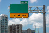 Segno di autostrada — Foto Stock