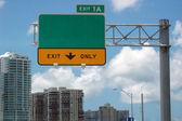 公路标志 — 图库照片
