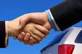 Araba anlaşma — Stok fotoğraf
