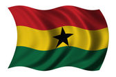 Flag of Ghana — Stock Photo