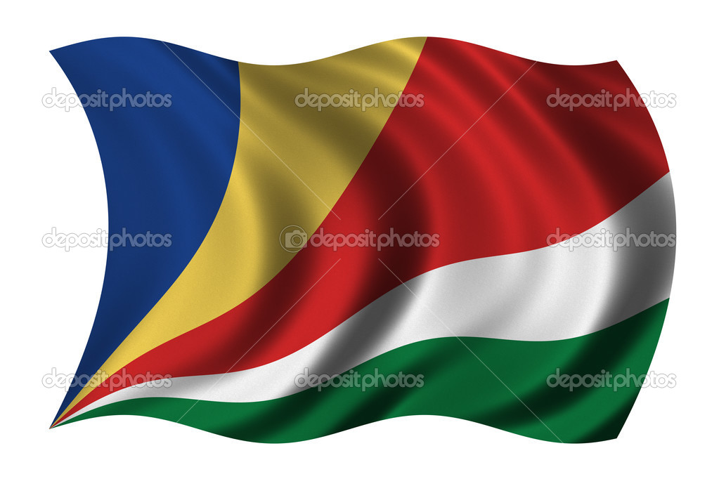 Flag of Seychelles waving in the wind - clipping path included — Stock Photo #2805289