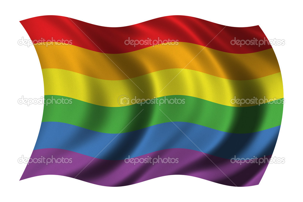 Gay Pride flag waving in the wind  - clipping path included — Stock Photo #2805828