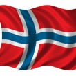 Flag of Norway - Lizenzfreies Foto