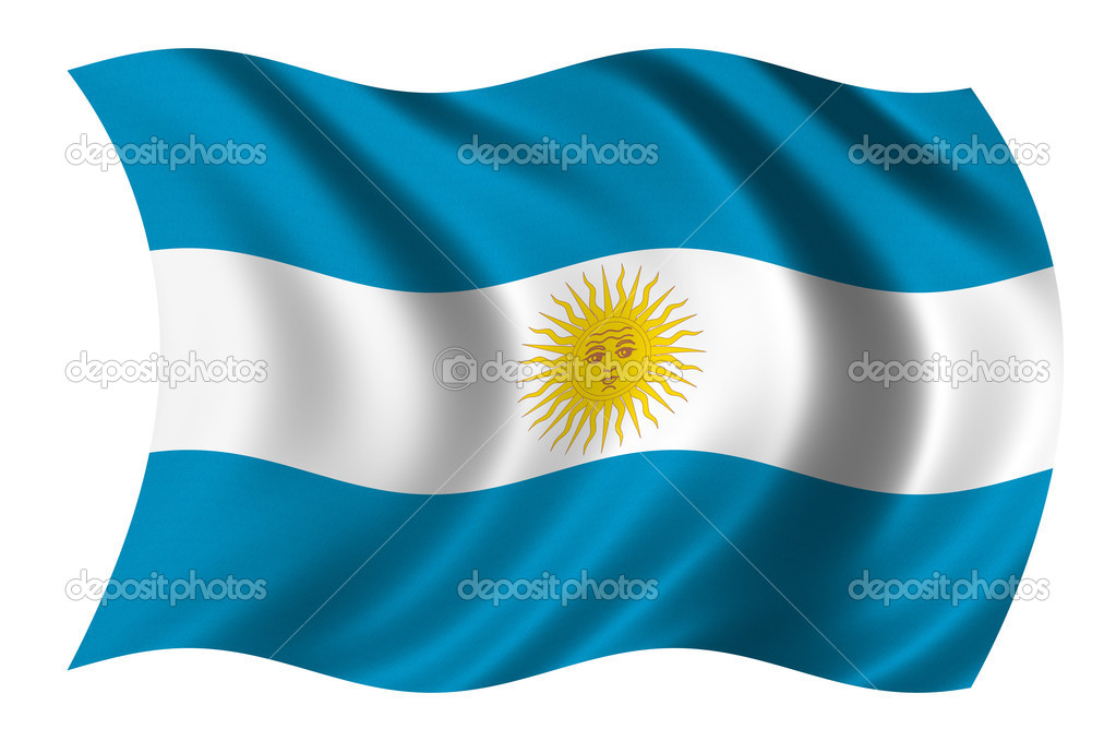 Flag of Argentina waving in the wind — Stock Photo #2823933