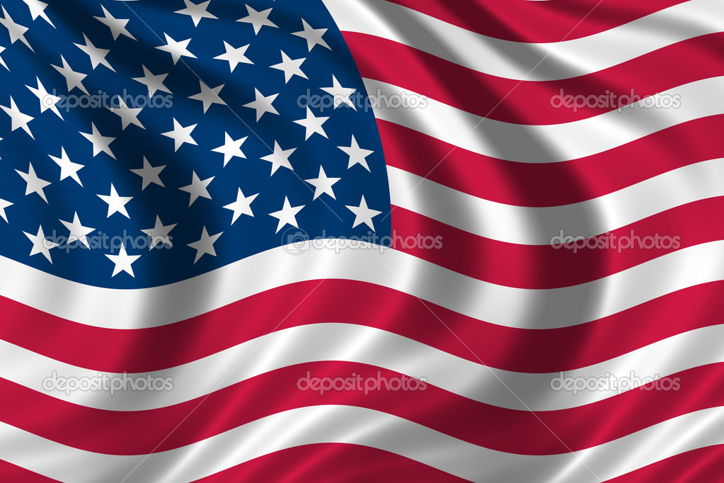 US Flag waving in the wind — Stock Photo #2824048