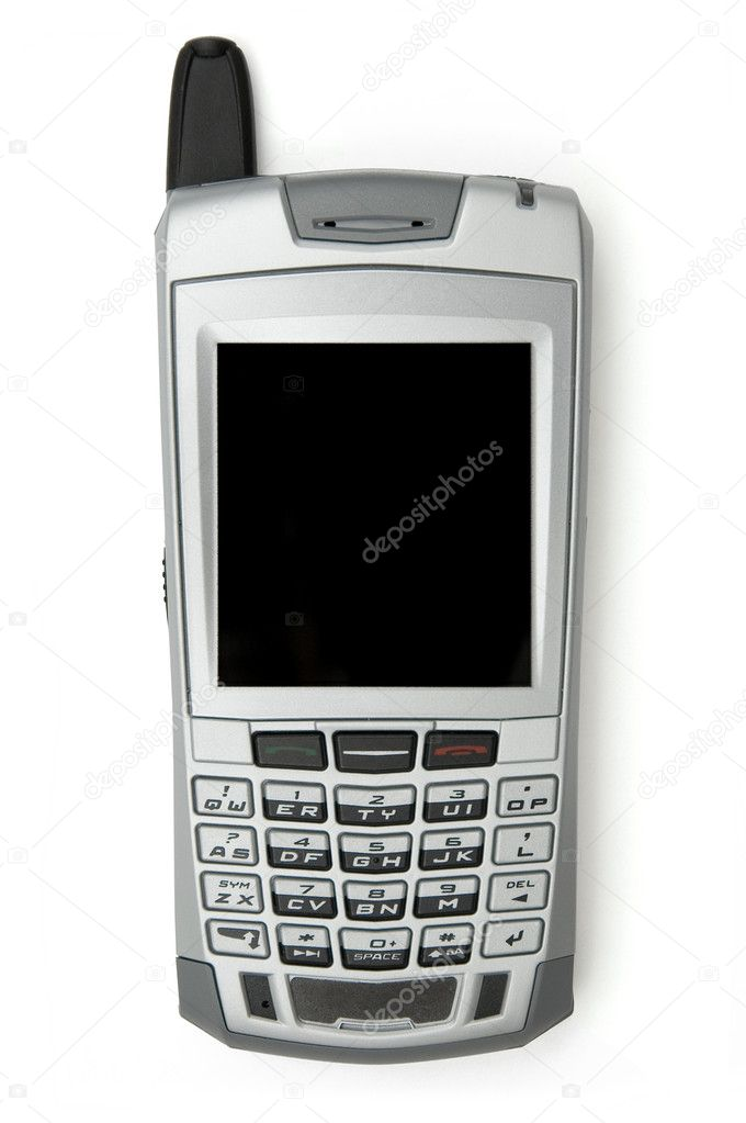 Cell phone with organizer over white background  Lizenzfreies Foto #2824066