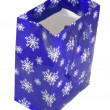 Paper blue bag with snowflakes — Stock Photo #2814375