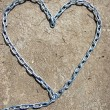 Stock Photo: Heart shape from chain