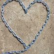Heart shape from chain — Stock Photo