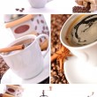 Coffee collage — Stock Photo