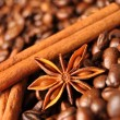 Royalty-Free Stock Photo: Anise, cinnamon and coffee