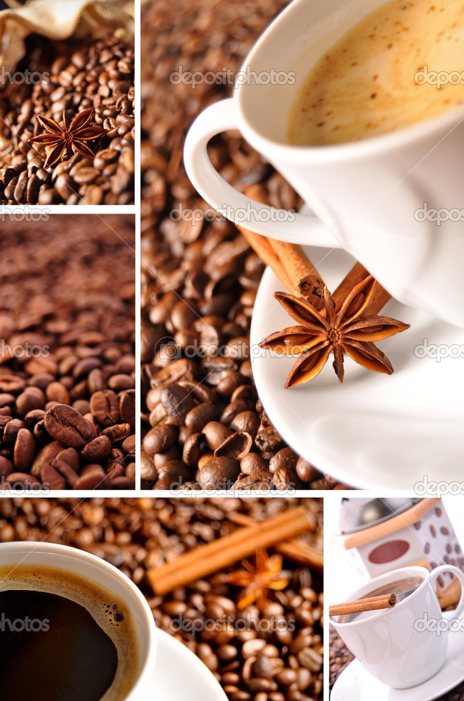 Coffee collage made of some pictures — Stock Photo #2820096