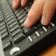 Stock Photo: Male hands on computer keyboard