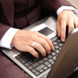 Male hands on laptop — Stock Photo #2831226