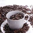 Cup full of coffee beans — Stock Photo #2834981