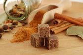 Vele soorten specerijen — Stockfoto