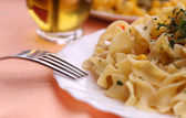 Delicious pasta meal — Stock Photo