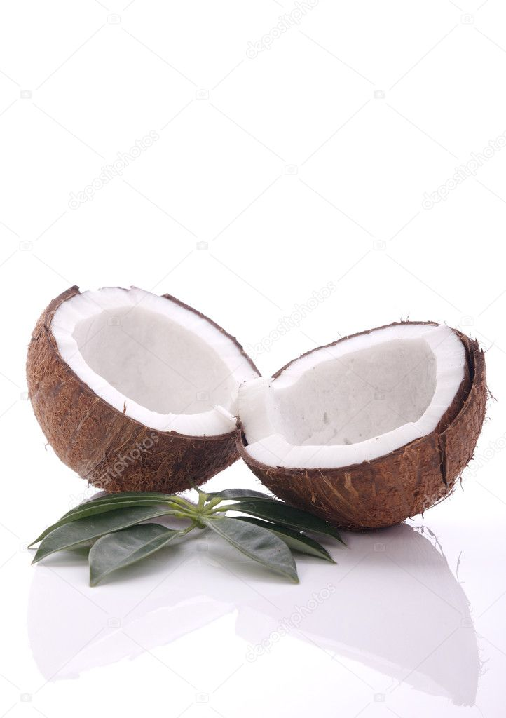 Cracked coconut  Stock Photo #2838616