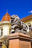 Lion Statue, Szigetvár — Stock Photo