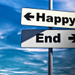 Happy or end - Stockfoto