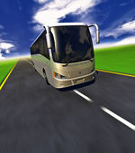 3D Tour bus — Stock Photo