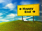Happy or end — Stock Photo