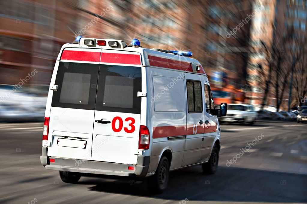The ambulance car hastens for the aid — Stock Photo #2863038
