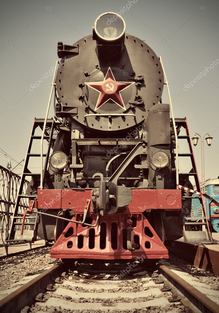 Restored old vintage steam train. — Stock Photo #3135367