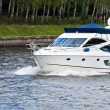 Motor yatch - Stock Photo