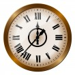 Old-fashioned clock — Stock Vector