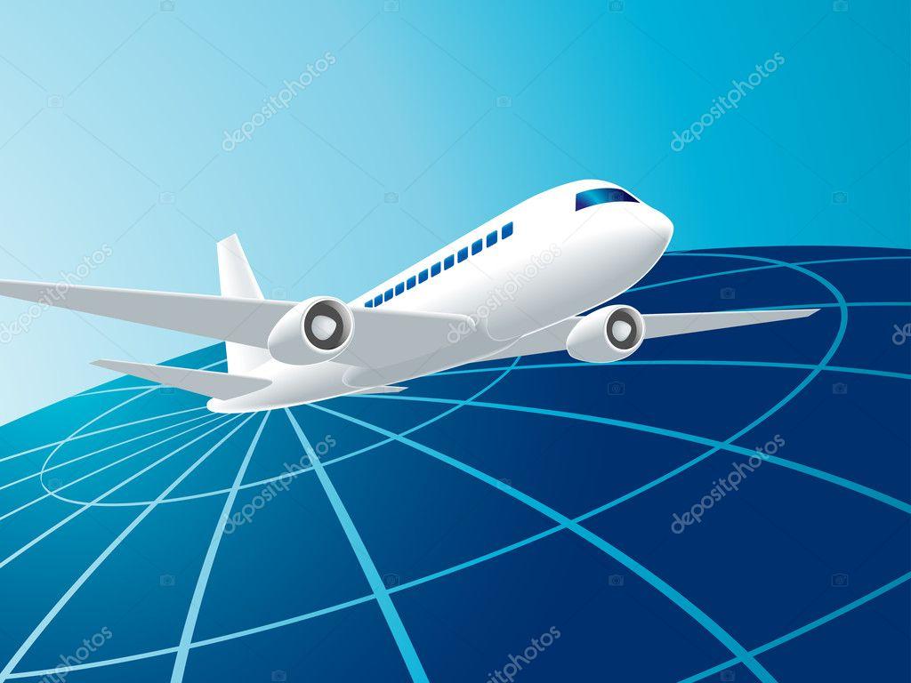 乘飞机旅行 — 图库矢量图像08